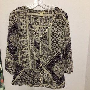 Lucky Brand Med boho festival 100% cotton blouse